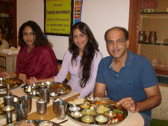 Shree Thaker Bhojanalay: Ashutosh ji  with Family.