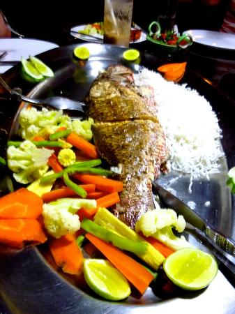Xavier: Our huge snapper, served as Johnnie advised, with delicious fish tikka on the side