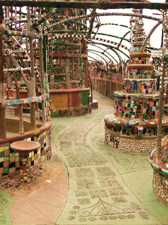 Watts Towers: Underneath the Towers