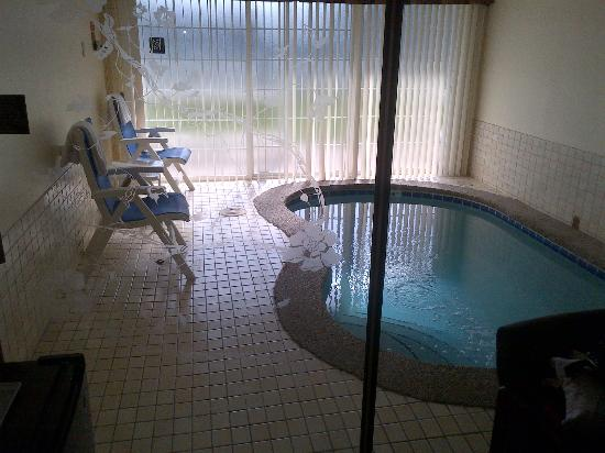 Ramada at Spokane Airport: our private pool! Cell phone picture