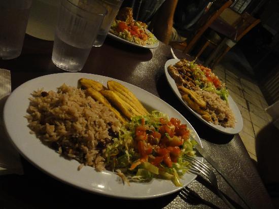 Central Park: Vegetarian Plate & Main Chicken Dish in b'ground