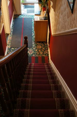 Abberley House B&B: staircase leading to the door
