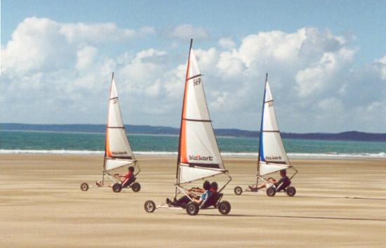 Ahipara Bay Motel: Micro Land Yachts on the beach