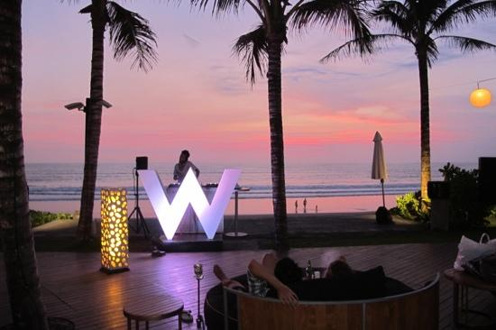 W Retreat & Spa Bali - Seminyak: Sunset at Woo Bar, The W.