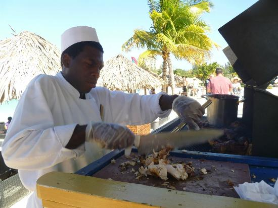 Secrets St. James Montego Bay: you have to try the jerk chicken!