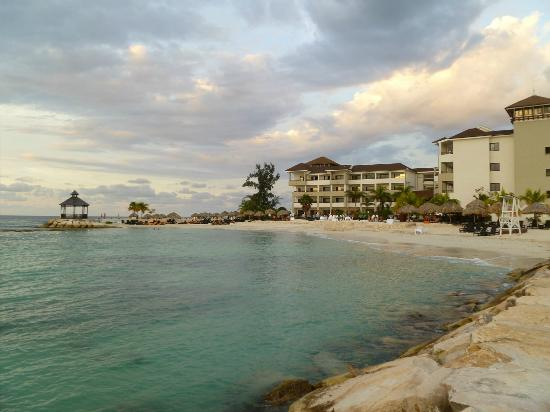 Secrets St. James Montego Bay: a view of the resort from the break wall