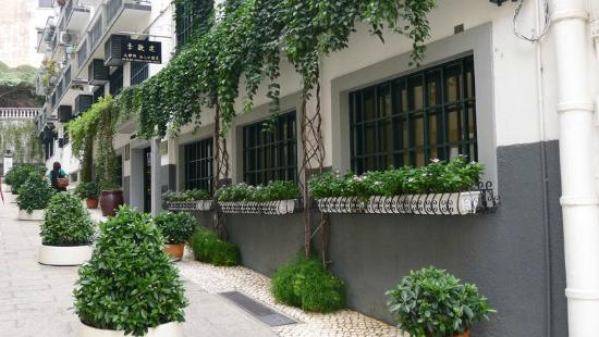 The Museum Of The Holy House Of Mercy Of Macau: Lovely street where you enter Museum Of The Holy House Of Mercy