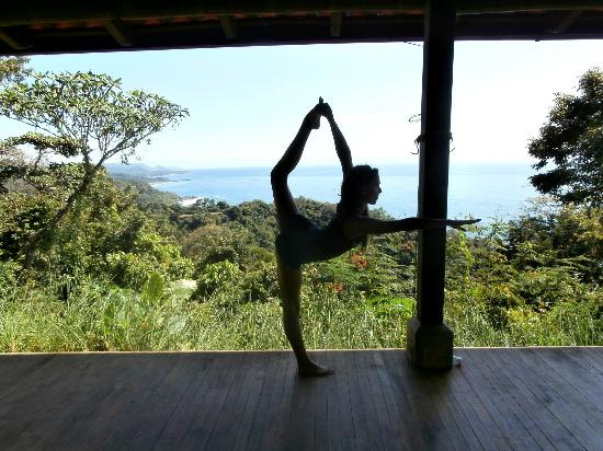 Anamaya Resort & Retreat Center: on the amazing yoga deck! the pics cannot do it justice