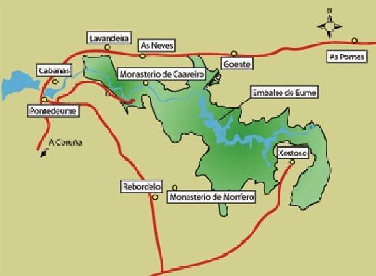 Pontedeume, Hiszpania: Park map