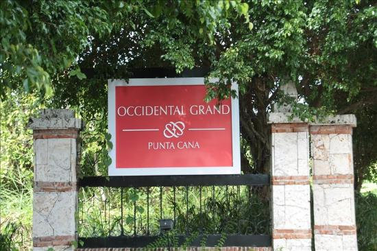 Occidental Grand Punta Cana: Occidental sign