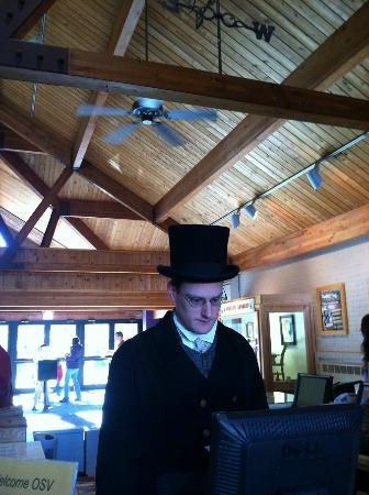 Old Sturbridge Village: A very handsome 'antique man' sold us our tickets