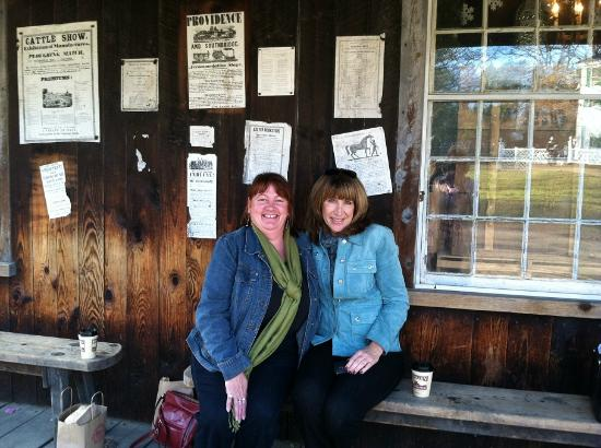 Old Sturbridge Village: Taking a break on the shop porch