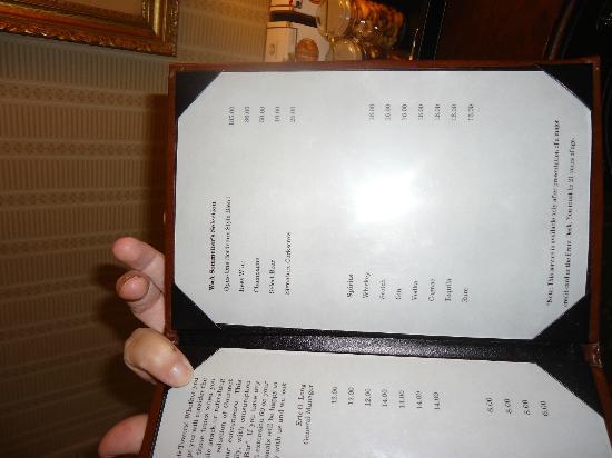 Waldorf Astoria New York: The Menu of Mini Bar