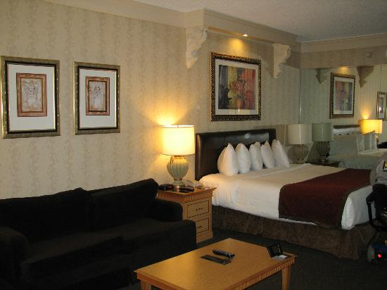 Horseshoe Tunica: Handicapped Accessible King with sofa, not a sleeper, Room 1314 I think it was