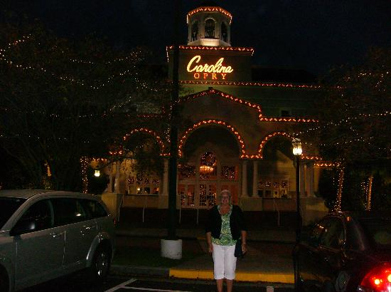 The Carolina Opry: Front of theatre at night