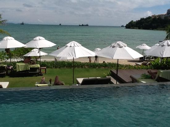 Pullman Phuket Panwa Beach Resort: View from a sunlounger near the beachside pool