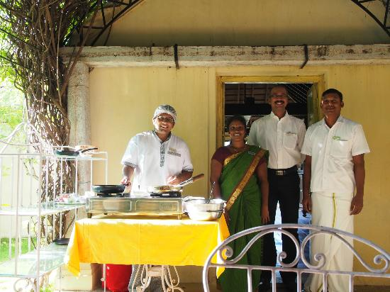 Visalam: The staff at breakfast!