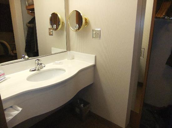 Humphry Inn & Suites: Lots of counter space & large closet