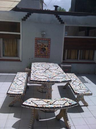 Palermo Soho Hostel: el patio, buen lugar para fumar