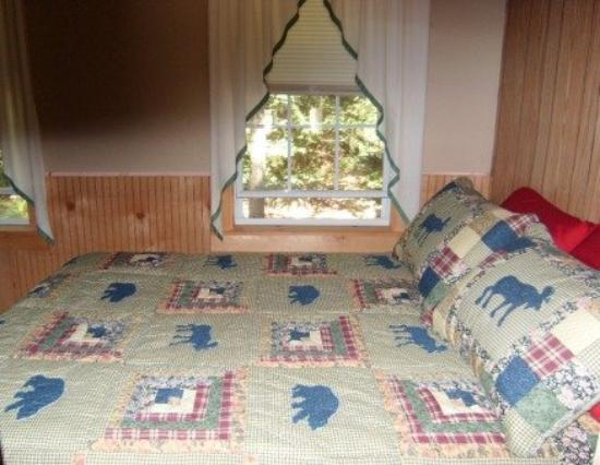 Cozy Cabins: Back Bedroom