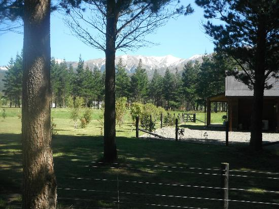 Woodbank Park Cottages: view of the snow capped mountains from the Cottage