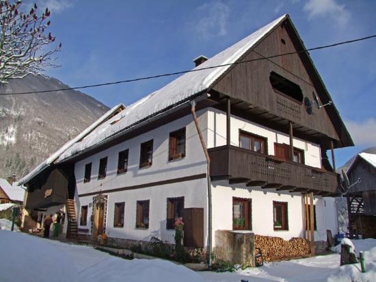 Sobe Pekovec Bohinj (Domačija Agotnik) in winter