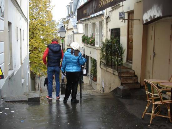 Place des Abbesses: scalinata di fronte la piazza