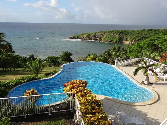 Hotel Amaudo: vue de notre balcon