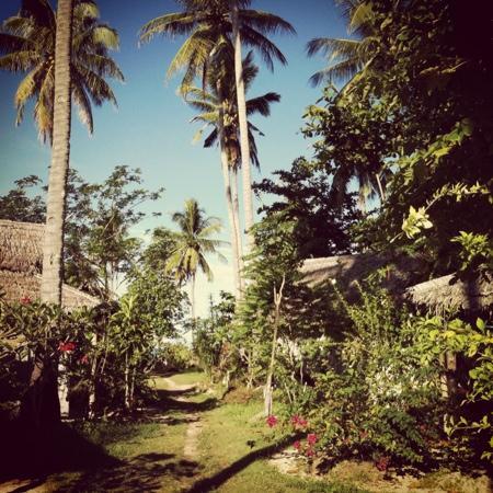 The Rajata: blick durch das cottage richtung strand