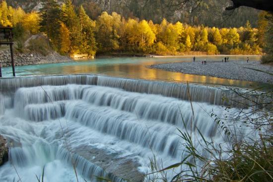 Lechfall: Lech Falls in Autumn, Füssen
