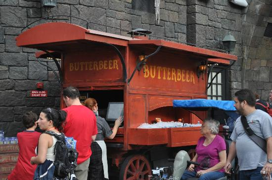 The Wizarding World of Harry Potter: A Butter Beer stand.