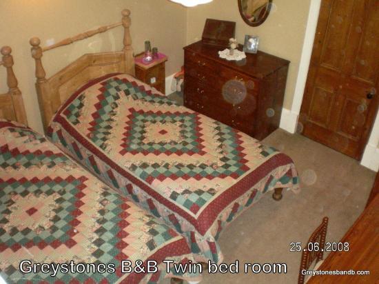 Greystones B&B: Ground floor twin room