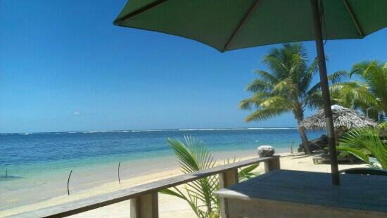 Savaii Lagoon Resort: view during lunch from the deck