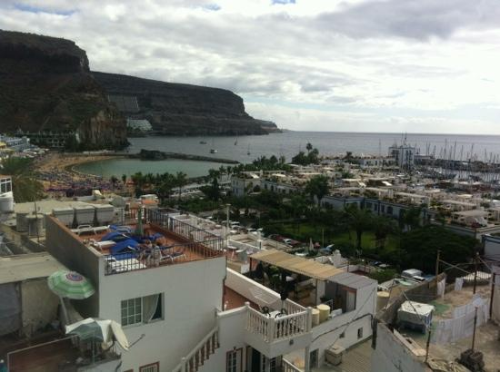Volver Beach Hostel: view from roof terrace