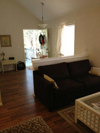 Cypress Creek Cottages: Entry, dining/living area. Note high ceiling.