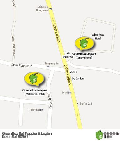 GreenBox Bali Map