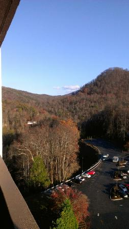 Park Vista - DoubleTree by Hilton Hotel - Gatlinburg: View from 12th floor room, mountain view