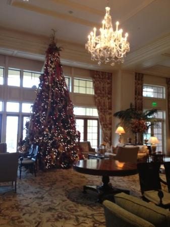 The Sanctuary Hotel at Kiawah Island Golf Resort: main entry tree