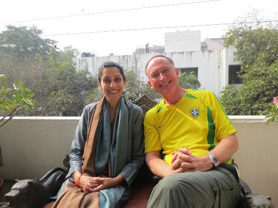 Thikana: Sheetal and Steve, on the second floor balcony.