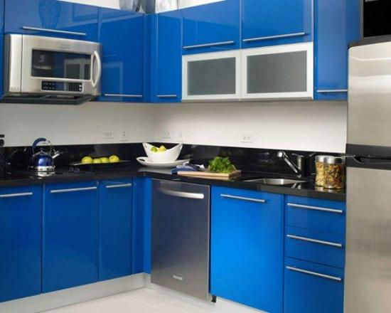 Residences at Bayside - by Elite City Stays: Bayside Blue Kitchen