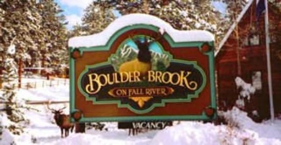 Boulder Brook on Fall River : Sign