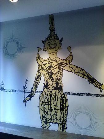 Tenface Bangkok: pareti della hall
