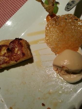 Le Saint Honoré : pain perdu au lait de poule, glace caramel...