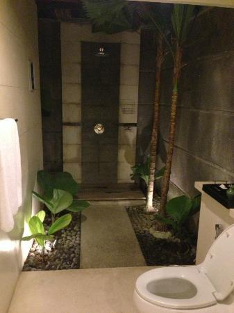 The Khayangan Villas: outdoor shower