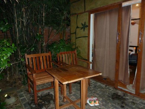 Phka Villa: terrasse