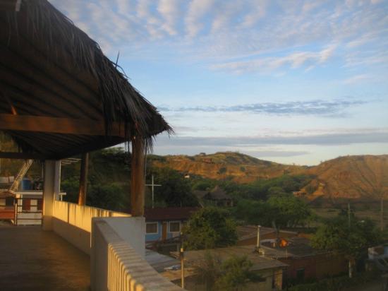 Mancora Yoga: studio and view of the hills