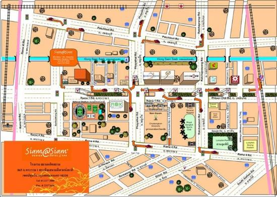 Map picture of siam siam design hotel bangkok bangkok for Top design hotels bangkok