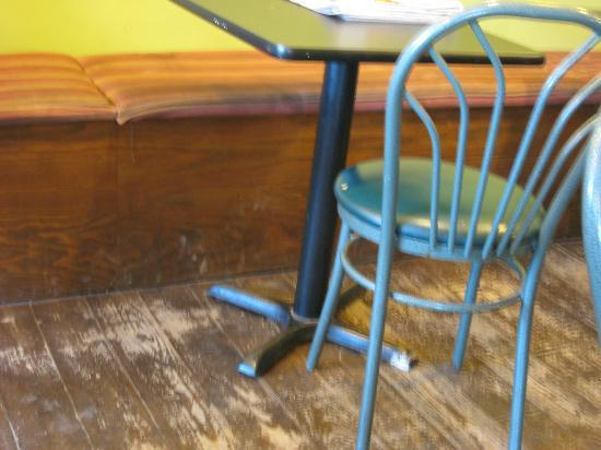 T.A.N. Coffee - Wolfville: TAN dirty seating area, how much are new cushions anyway?