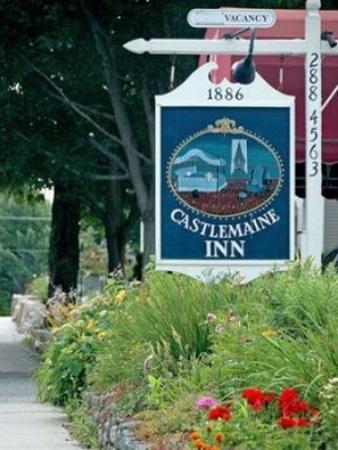 Bar Harbor Castlemaine Inn B&B: Sign
