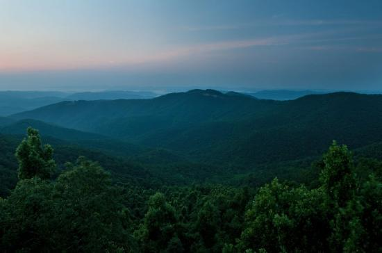 Art of Living Retreat Center: The Eastern View of the Blue Ridge Mountains